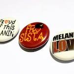 Melanin Pride, Afro Sista, Afro Pride Pinback Button