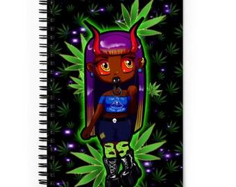 420 Demon Spiral Dotted Line Notebook, Bullet Journal