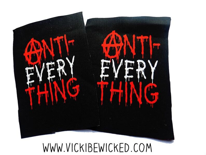 Sew On Anti-Everything Black Fabric Patch image 0