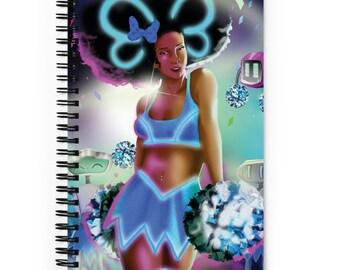 SciFi Cheerleader Spiral Dotted Line Notebook, Bullet Journal