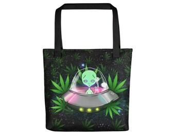 Alien 420 Tote Bag
