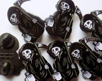 Grim Reaper Pin, 40mm Enamel Pin