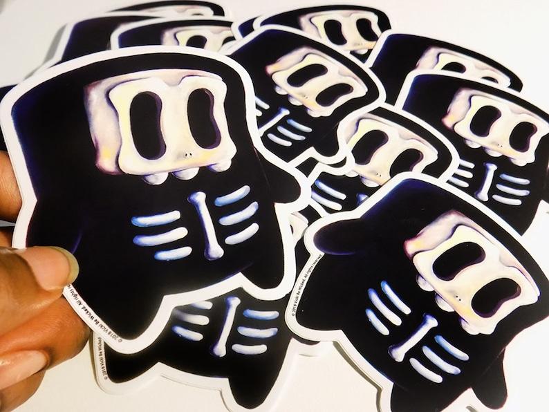 Vinyl Sticker Monster Creature Skullboy Laptop Decal image 0