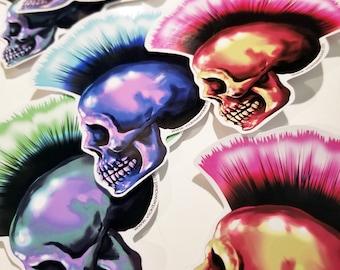 Skull Mohawk Stickers