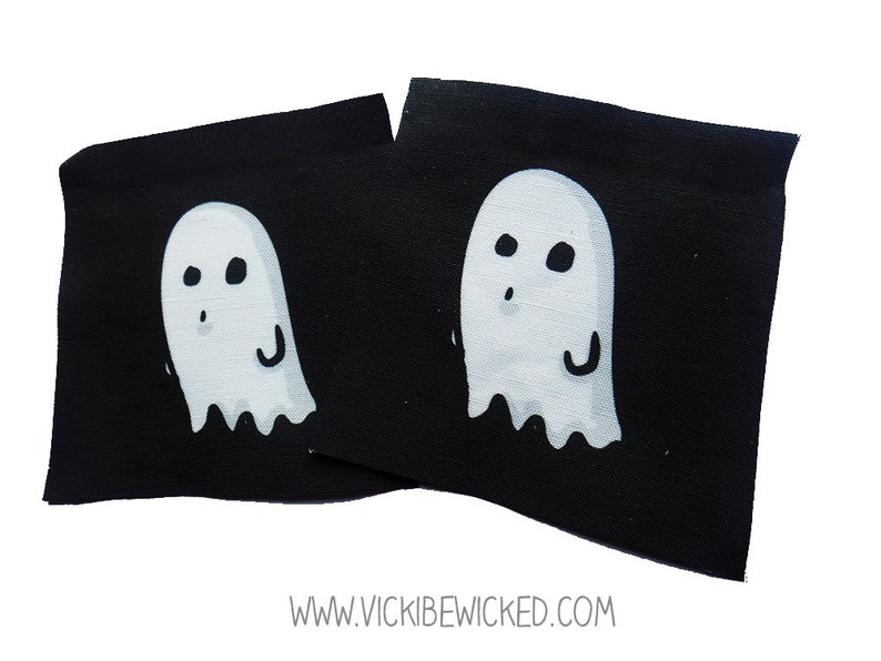 Sew On Ghost Black Fabric Patch image 0
