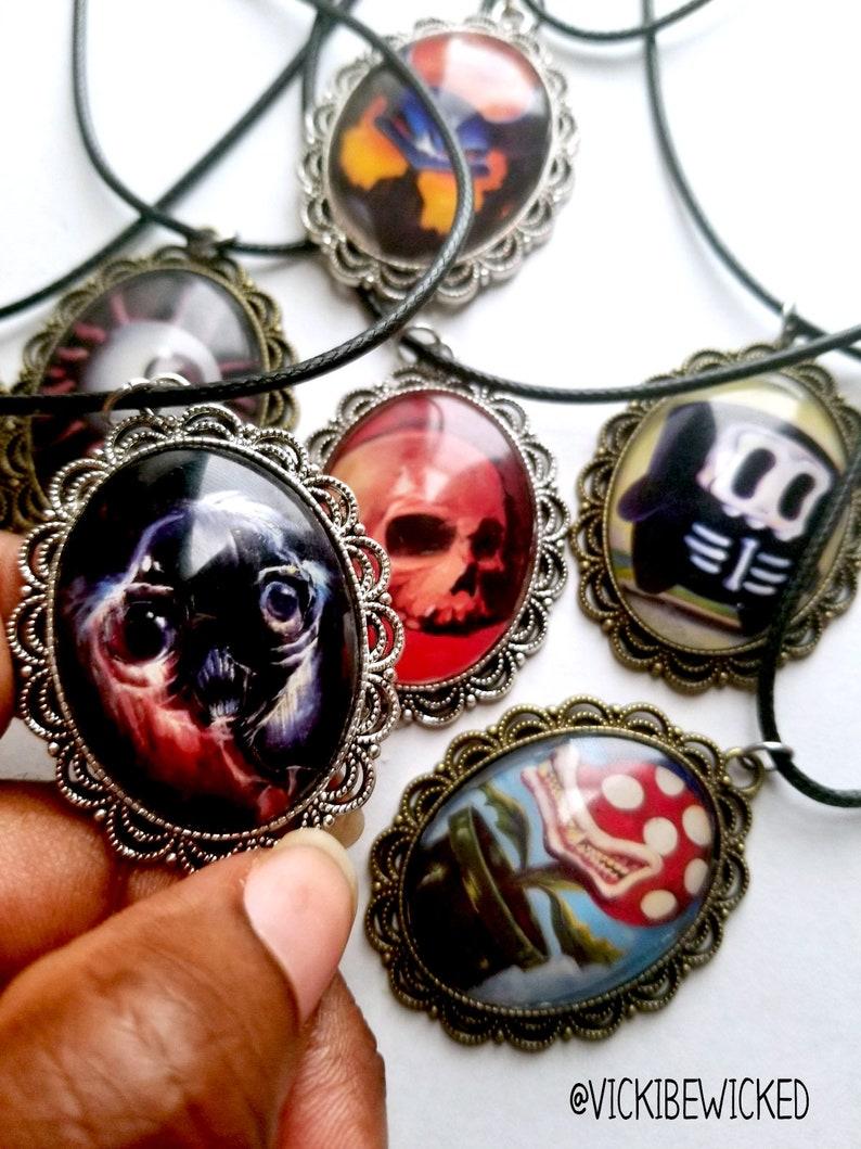 Cameo Necklaces Pop Surrealist Strange Art image 0