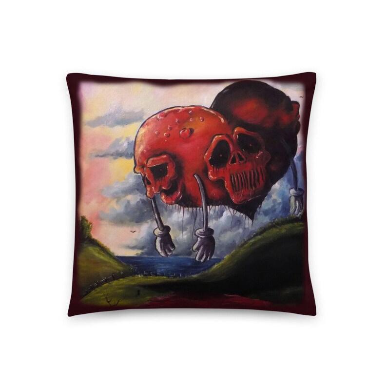 Decorative Pillow Creepy Bleeding Hearts Pillow Alternative image 0