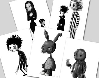 Horror Movie Character Art Prints
