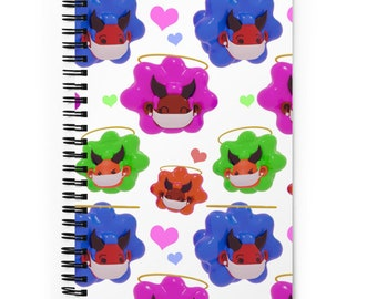 Afro Puff Girls Spiral Dotted Line Notebook, Bullet Journal