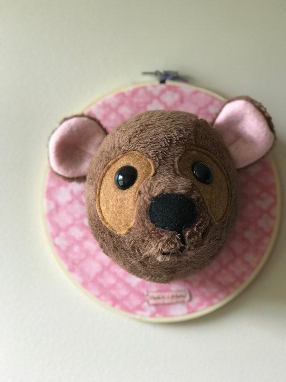 Bart The Brown Bear Faux Taxidermy Head Mount Stuffed Animal Etsy