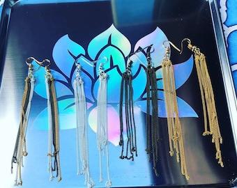 Delicate chain earrings