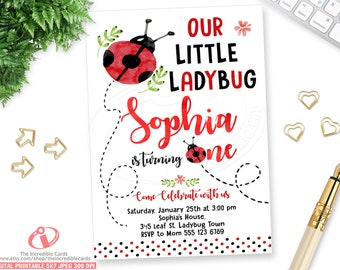 Ladybug Invitation Etsy