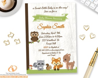 Forest baby shower etsy sweet woodland baby shower invitation baby boy woodland animals invite forest baby shower invitation gender neutral printable filmwisefo