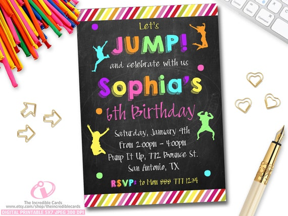Girls jump birthday party invitations, roxy reynolds anal fuck