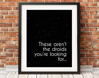 Star Wars Darth Vader Quote I Find Your Lack Of Faith Etsy