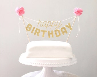 Cake Toppers Birthday Cake Topper, Birthday Decorations, Kids Birthday Cake, Birthday Party Decor, Cake Banner, Cake Bunting, Mini Banner,