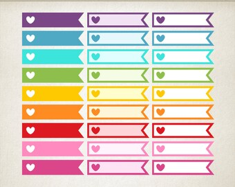 heart checklist stickers appointment printable planner stickers to do list stickers flags love stickers work