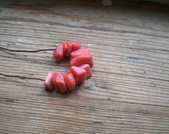 pink coral necklace// Modern pink coral necklace // pink coral jewelry