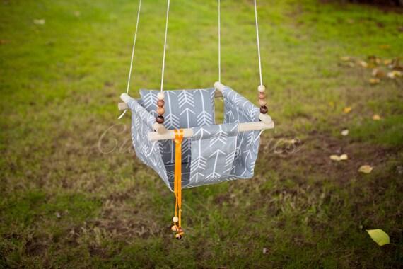 Baby Fabric Swing W Pilow Indoor Outdoor Baby Todler Swing Etsy