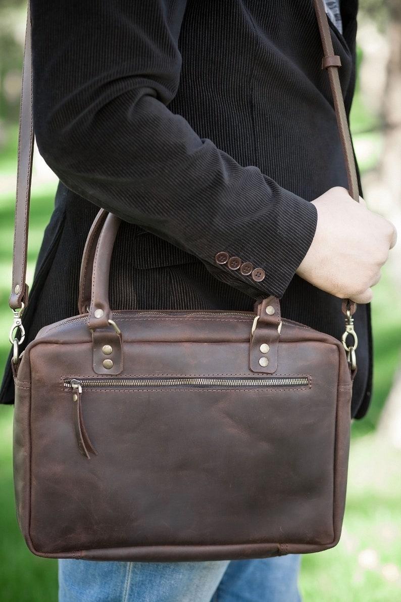 f1e9694967 Sac en cuir messenger sac pour ordinateur portable 13 pouces | Etsy
