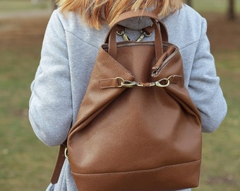 Women's Leather Bag, Leather Handbag, Leather Shoulder Bag, Genuine Leather Bag, Brown Handbag, Brown Leather Natural Bag, back to school