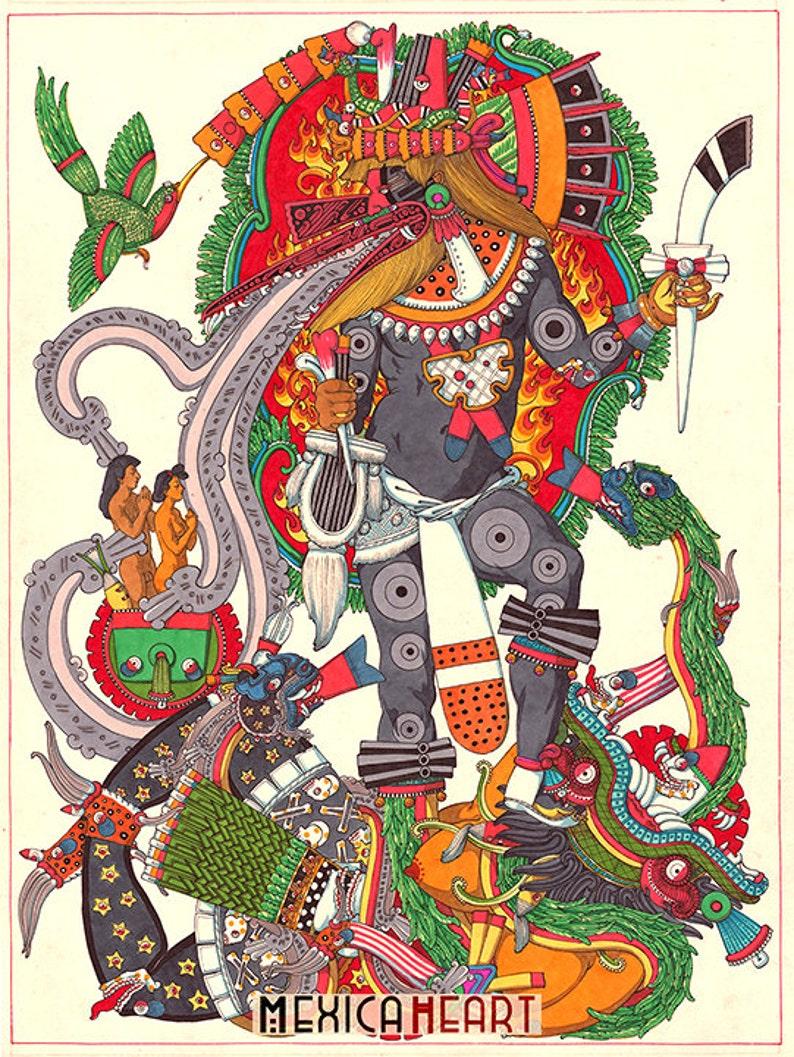 8002d1a053 Quetzalcóatl fina lámina espiritualidad Mexica | Etsy