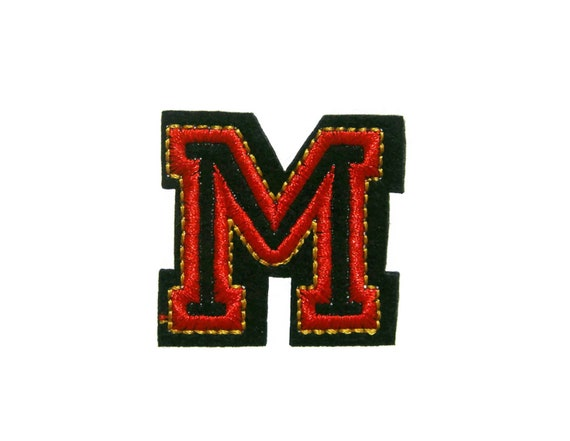 Capital Letter M Embroidered Applique Iron On Patch