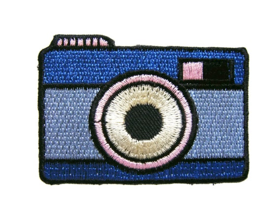 Camera embroidered applique iron on patch etsy