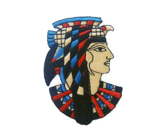 Egyptian Pharaoh Embroidered Applique Iron on Patch
