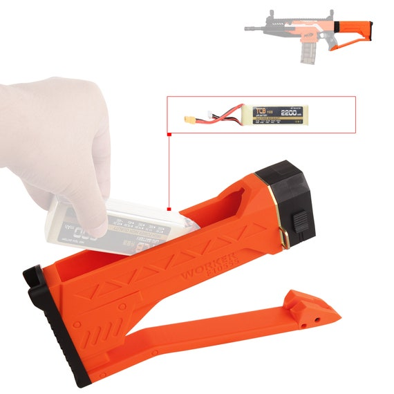 Worker MOD F10555 Lipo Battery House Fixed Butt Stock for Nerf Stryfe Modify Toy