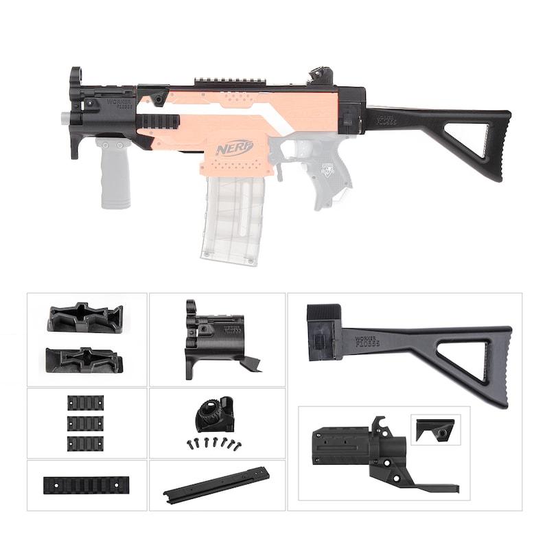 Worker Mod F10555 for Nerf Stryfe DIY MP5-K Style Combo 9 Item Modify Toy