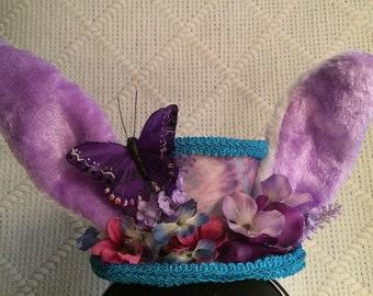 497000eefe7e4 Spring Lavender Bunny Mini Top Hat