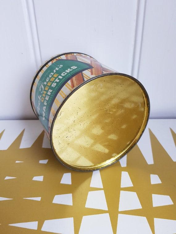Retro kitchen storage Vintage Peak Freans Cheese wafer sticks Tin