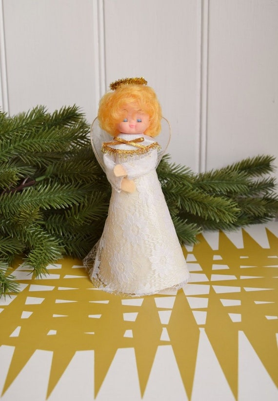 Vintage Christmas Angel. Tree decoration - Retro Xmas Fairy Ornament