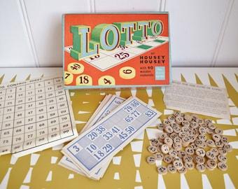 Vintage Lotto - Bingo - Housey Housey. Retro. Family game