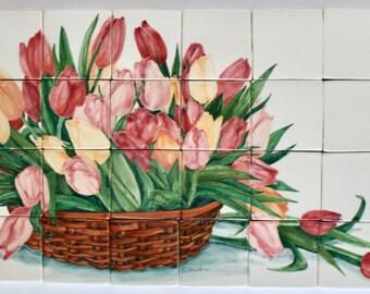 Pink Tulip Mural