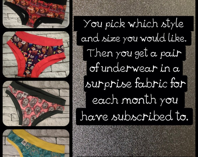 Monthly Scrundies 3 Month Subscription