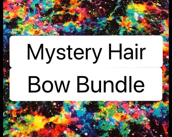 Mystery Hair Bow Clip Band Bundle