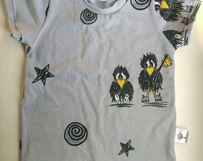 Little birds T-shirt. Short sleeve. Age 2-3 Years. Made by RackenzieZ