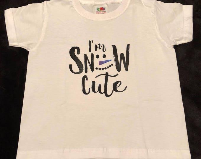 Child/kid Christmas im snow cute tshirt. Age 2-3 years