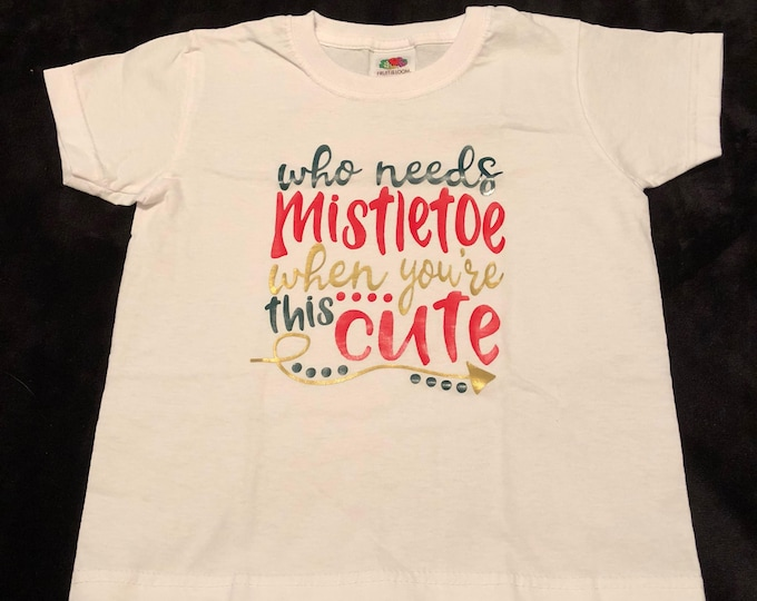 Child/kid mistletoe tshirt. Age 2-3 years
