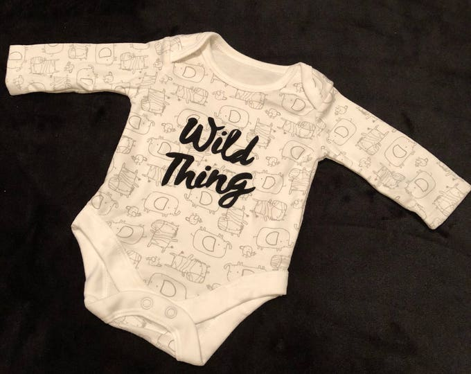 Baby/child/kid wild thing, animal vest. Age newborn up to 7lb