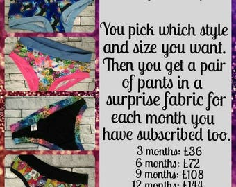 Monthly Scrundies 6 Month Subscription
