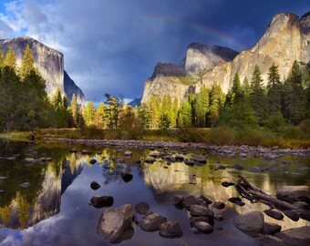 Yosemite Print, Yosemite Art Print, Yosemite National Park Print, Yosemite Valley,  Reflection Print, Yosemite Photograph, National Park Art