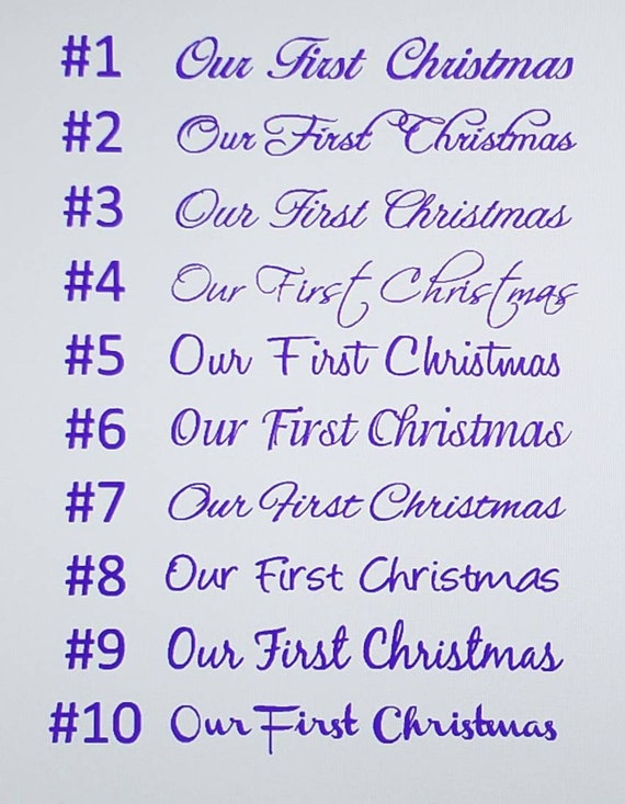 Our First Christmas Personalized Quotes Vinyl Lettering Etsy