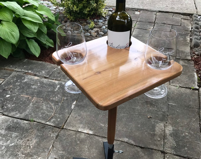 Diamond Wine Table And Stand by D&C Designs