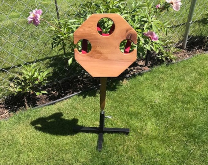 Octagon Wine Table WITH Metal Stand by D&C Designs