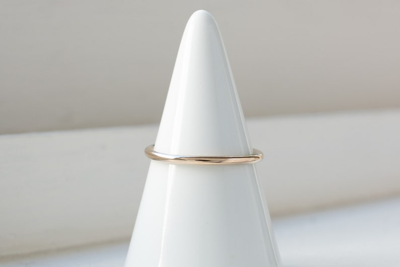 Set of 3 Stacking Rings Gold Filled Sterling Silver Square Triangle and Round High Polish Oxidized Sterling Silver