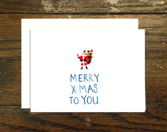 Tiny Santa Christmas Card