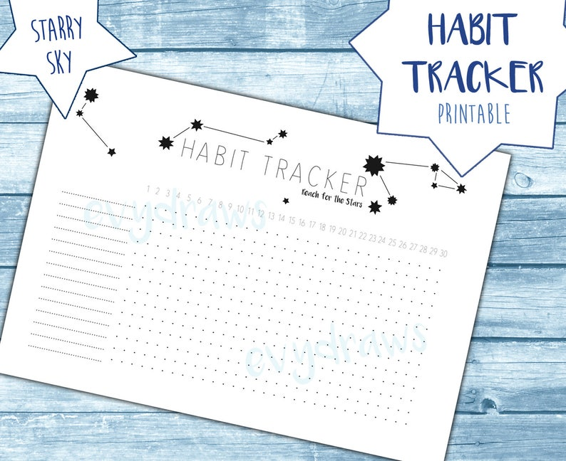 graphic about Bullet Journal Habit Tracker Printable titled Behavior Tracker \
